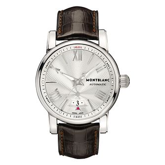 Montblanc Star men's brown leather strap watch - Product number 6912672
