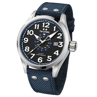 TW Steel Volante Men's Stainless Steel Blue Strap Watch - Product number 6915663