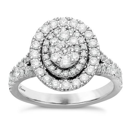 Neil Lane Platinum 1.18ct Oval Double Halo Ring - Product number 6932770