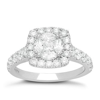 Neil Lane Platinum 1.72ct Diamond Halo Cluster Ring - Product number 6933556
