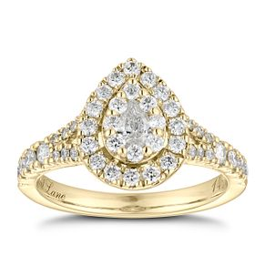 Neil Lane 14ct Yellow Gold 0.81ct Diamond Pear Diamond Ring - Product number 6934358