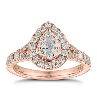 Neil Lane 14ct Rose Gold 0.81ct Diamond Pear Diamond Ring - Product number 6934471