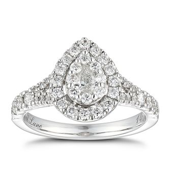 Neil Lane Platinum 0.81ct Diamond Pear Diamond Ring - Product number 6934617