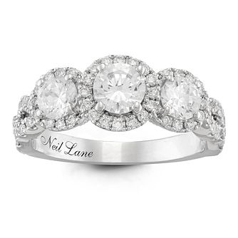 Neil Lane Platinum 1.5ct Diamond 3 Stone Ring   Product Number 6935419