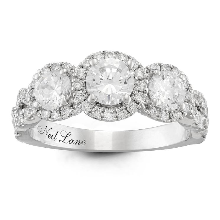 Neil Lane Platinum 1.5ct Diamond 3 stone Ring - Product number 6935419