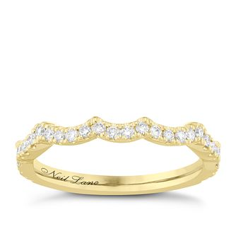 Neil Lane 14ct Yellow Gold 0.29ct Diamond Shaped Band - Product number 6935540