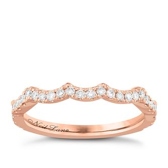 Neil Lane 14ct Rose Gold 0.29ct Diamond Shaped Band - Product number 6935672
