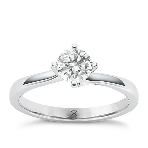 The Diamond Story Platinum 0.50ct Diamond Ring - Product number 6936792