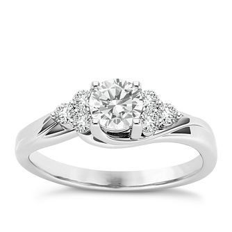 The Diamond Story Platinum 0.50ct Diamond Ring - Product number 6937195