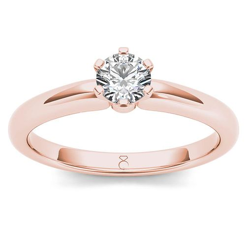 The Diamond Story 18ct Rose Gold 0.33ct Diamond Ring - Product number 6937713