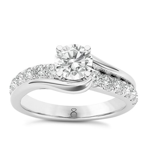 The Diamond Story Platinum 1ct Diamond Crossover Ring - Product number 6938361