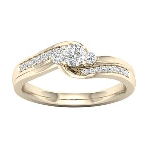 The Diamond Story 18ct Yellow Gold 0.33ct Diamond Ring - Product number 6939031