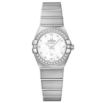 Omega Constellation Quartz Ladies' 18ct White Gold Watch - Product number 6939589