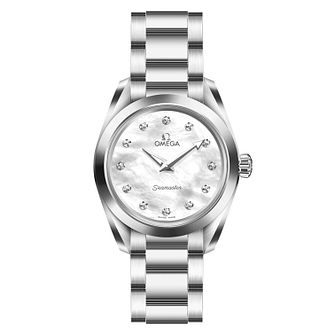 Omega Seamaster Aqua Terra Ladies' White Bracelet Watch - Product number 6939619