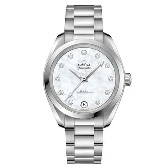 Omega Sea Master Aqua Terra Ladies 34mm White Bracelet Watch - Product number 6939627