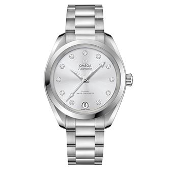 Omega Sea Master Aqua Terra Ladies' Grey Bracelet Watch - Product number 6939635
