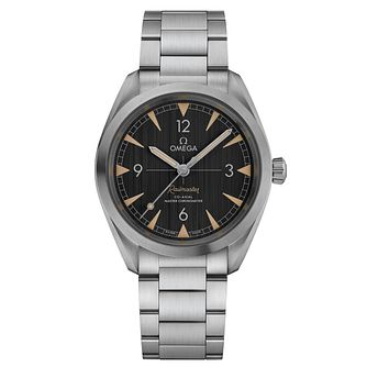 Omega Railmaster Men's Stainless Steel Black Dial Watch - Product number 6939805