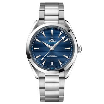Omega Men's Aqua Terra 150M Blue Bracelet Watch - Product number 6939856
