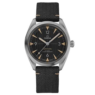 Omega Railmaster Men's Stainless Steel Black Strap Watch - Product number 6939864
