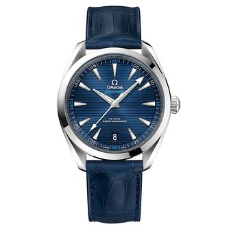 Omega Sea Master Aqua Terra Men's 41mm Blue Strap Watch - Product number 6939945