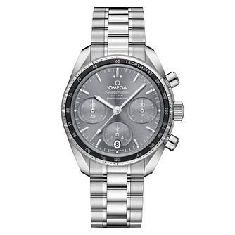 Omega Speedmaster Men's Steel Grey Chronograph Watch - Product number 6940110