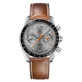 Omega Speedmaster Men's Steel Grey Chronograph Strap Watch - Product number 6940226