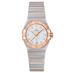 Omega Ladies' Constellation 27 18ct Rose Gold Bracelet Watch - Product number 6940285