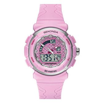 Sekonda Ladies' Pink Strap Digital Watch - Product number 6944531