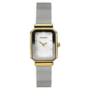 Sekonda Ladies' Two Tone Rectangle Bracelet Watch - Product number 6944582