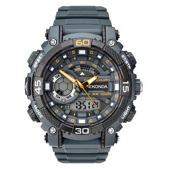 Sekonda Men's Digital Chronograph Grey Strap Watch - Product number 6944620