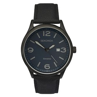 Sekonda Men's Black Nylon Strap Watch - Product number 6944639