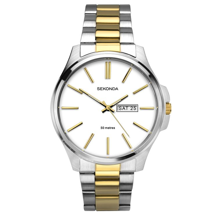 Sekonda Men's Two Tone Stainless Steel Bracelet Watch - Product number 6944760
