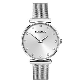 Sekonda Ladies' Crystal Stainless Steel Mesh Watch - Product number 6944957