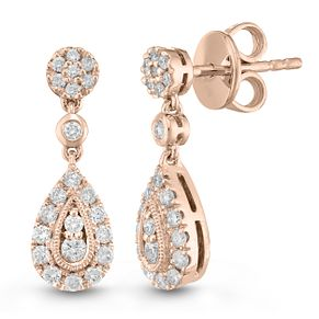 Neil Lane Designs 14ct Rose Gold 0.45ct Diamond Earrings - Product number 6945368