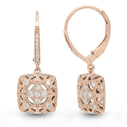 Neil Lane Designs 14ct Rose Gold 0.19ct Vintage Earrings - Product number 6945406