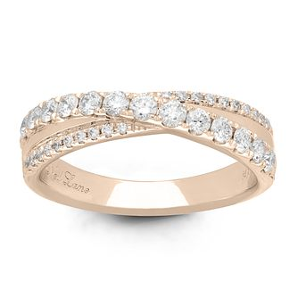 Neil Lane Designs 14ct Rose Gold 0.58ct Diamond Band - Product number 6945562