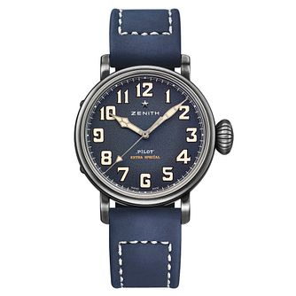 Zenith Pilot Men's Stainless Steel Blue Strap Watch - Product number 6947611