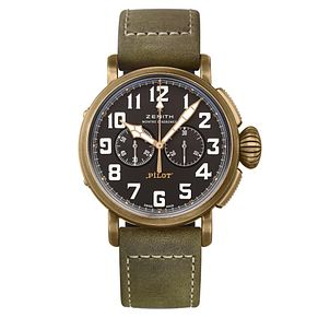 Zenith Men's Bronze Heritage Black Chronometer Strap Watch - Product number 6947670
