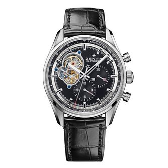 Zenith El Primero Men's Black Chronograph Strap Watch - Product number 6947689