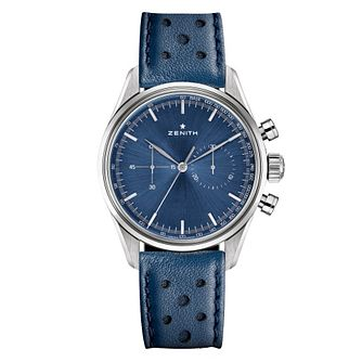 Zenith Men's Heritage Blue Stainless Steel Strap Watch - Product number 6947719