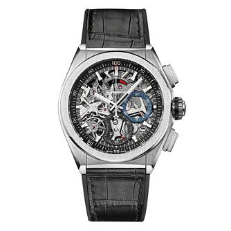 Zenith Defy Men's Titanium Skeleton Chronograph Strap Watch - Product number 6947751