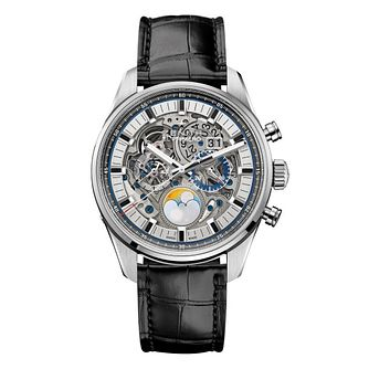 Zenith El Primero Men's Stainless Steel Skeleton Strap Watch - Product number 6947794