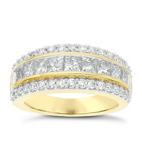 18ct Yellow Gold 2ct Diamond Anniversary Ring - Product number 6948456