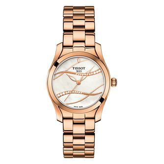 Tissot T-Wave Ladies' Rose Gol-Plated Steel Bracelet Watch - Product number 6952860