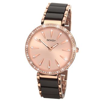 Seksy Ladies' Rose Gold Bracelet Watch - Product number 6954332