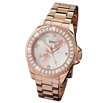 Seksy Ladies' Rose Gold Bracelet Watch - Product number 6954340