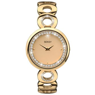 Seksy Ladies' Gold Plated Bracelet Watch - Product number 6954359