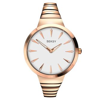 Seksy Ladies' Rose Gold Bracelet Watch RRP £89.99 - Product number 6954375