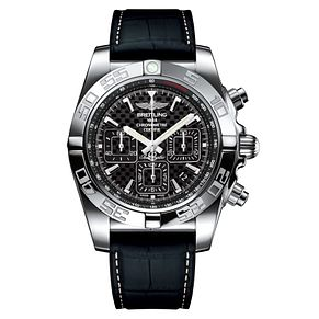Breitling Chronomat 44 Men's Black Rubber Strap Watch - Product number 6955061
