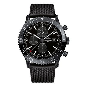 Breitling Chronoliner Men's Black Steel Rubber Strap Watch - Product number 6955347